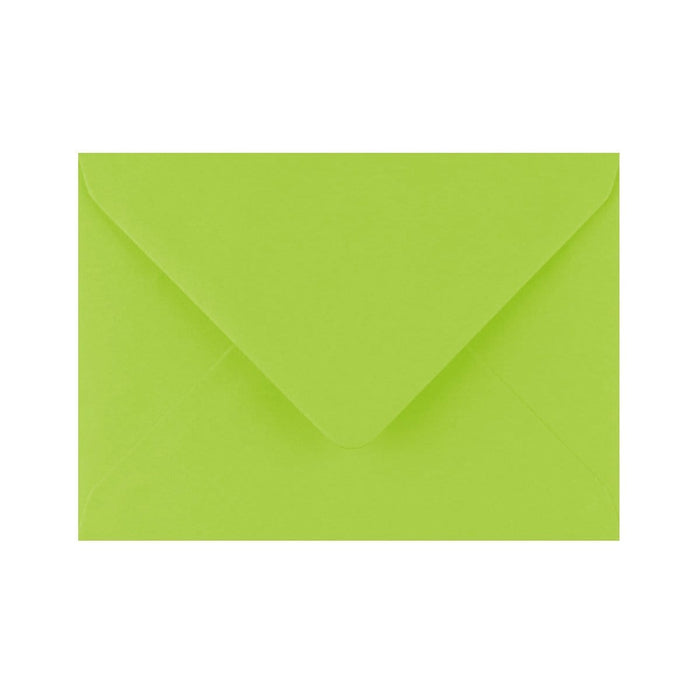 C6 Bright Green Gummed Diamond Flap Greeting Envelopes [Qty 1,000] 114 x 162mm