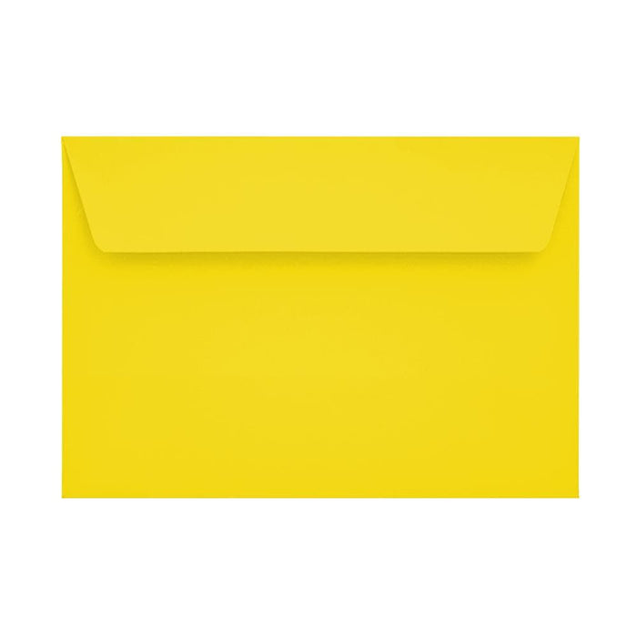 C6 Canary Yellow 120gsm Peel & Seal Envelopes [Qty 250] 114 x 162mm (2131089490009)
