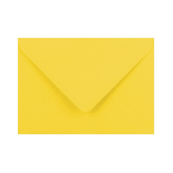 C6 Canary Yellow Gummed Diamond Flap Greeting Envelopes [Qty 1,000] 114 x 162mm