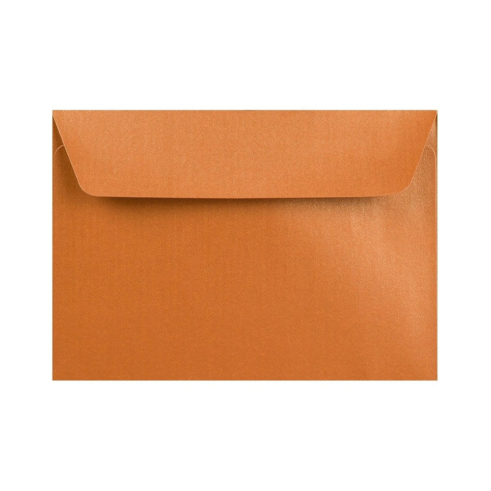 C6 Pearlescent Copper 120gsm Peel & Seal Envelopes [Qty 250] 114 x 162mm