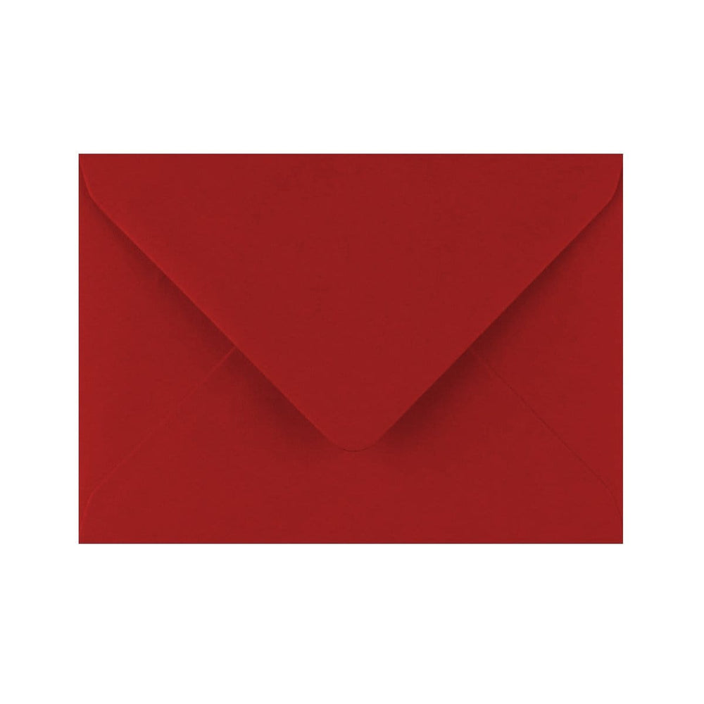 C6 Crimson Red Gummed Diamond Flap Greeting Envelopes [Qty 1,000] 114 x 162mm