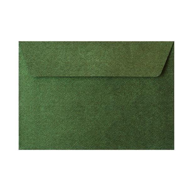 C6 Forest Green Textured 120gsm Peel & Seal Envelopes [Qty 250] 114 x 162mm