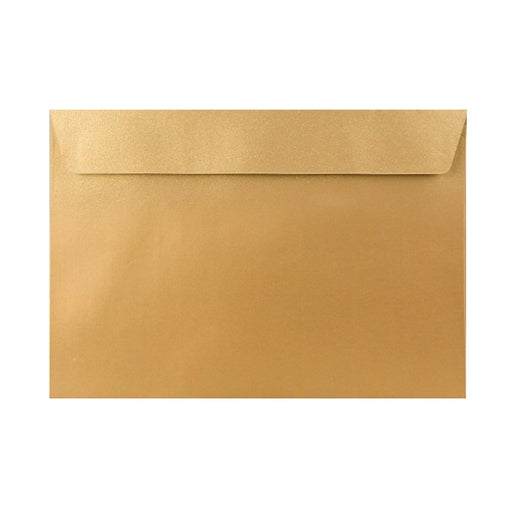 C6 Metallic Gold 120gsm Peel & Seal Envelopes [Qty 250] 114 x 162mm