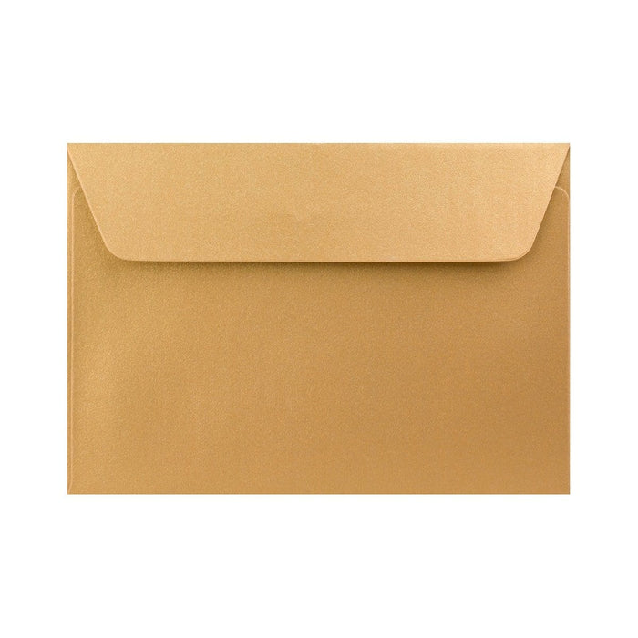 C6 Pearlescent Gold 120gsm Peel & Seal Envelopes [Qty 250] 114 x 162mm (2131255623769)