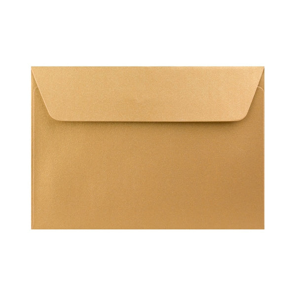 C6 Pearlescent Gold 120gsm Peel & Seal Envelopes [Qty 250] 114 x 162mm