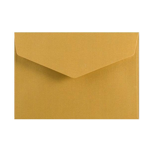 C6 Metallic Gold 120gsm V Flap Envelopes [Qty 250] 114mm x 162mm