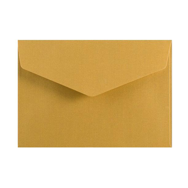 C6 Metallic Gold 120gsm V Flap Envelopes [Qty 250] 114mm x 162mm (2131337052249)