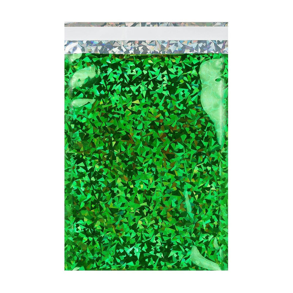 C6 Green Holographic Foil Bags [Qty 250] 114 x 162mm (2131386859609)