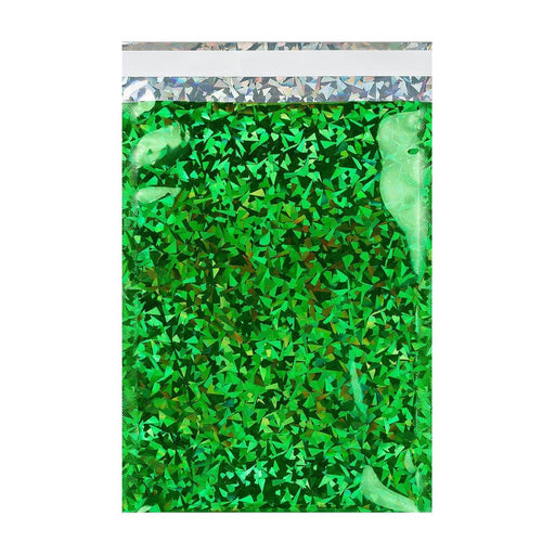 C6 Green Holographic Foil Bags [Qty 250] 114 x 162mm