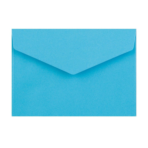 C6 Bright Blue V Flap Peel & Seal Envelopes [Qty 250] 114 x 162mm