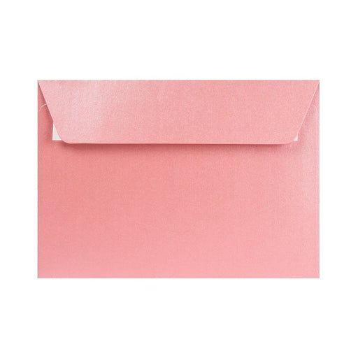 C6 Pearlescent Baby Pink 120gsm Peel & Seal Envelopes [Qty 250] 114 x 162mm