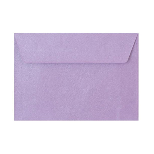 C6 Lilac Textured 120gsm Peel & Seal Envelopes [Qty 250] 114 x 162mm