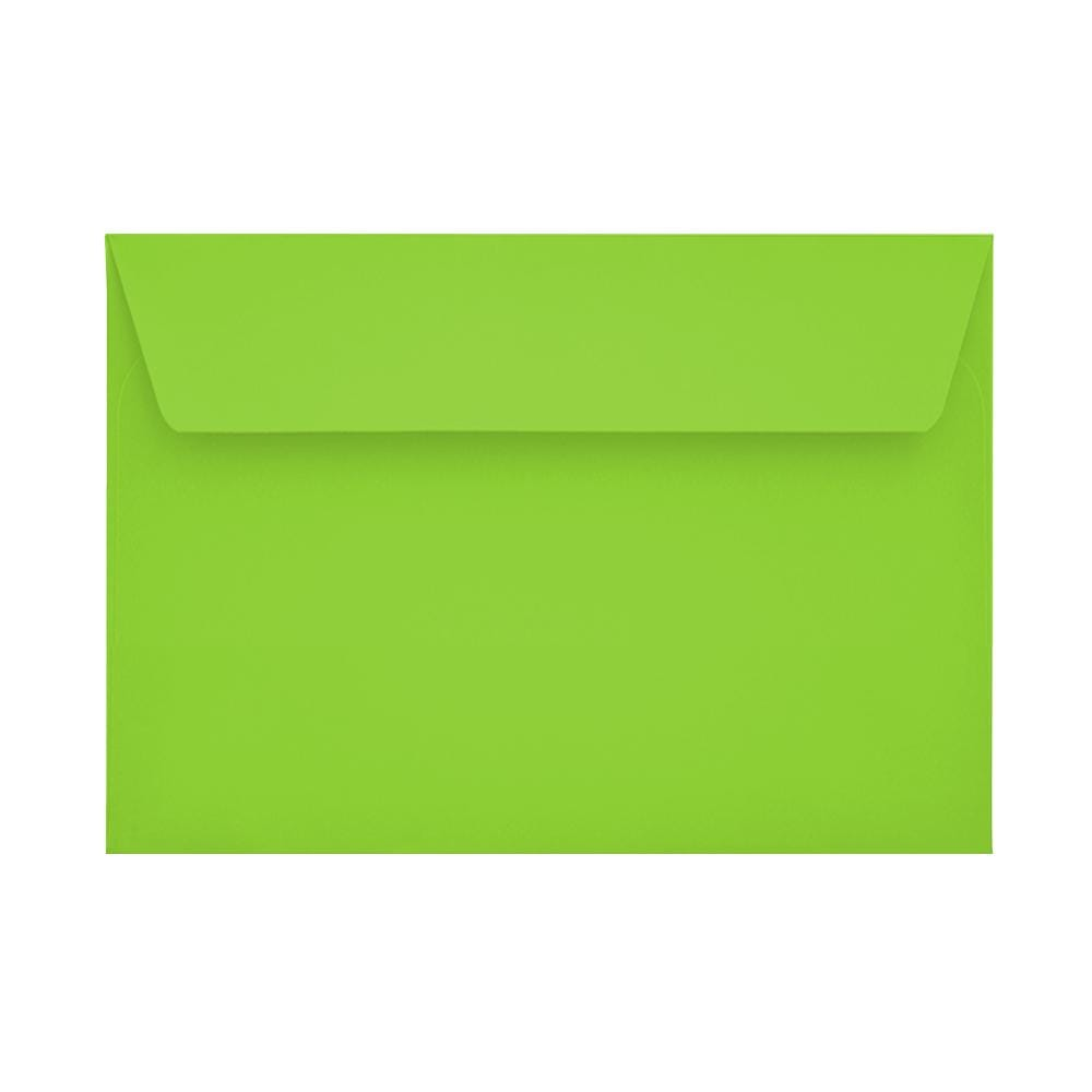 C6 Lime Green 120gsm Peel & Seal Envelopes [Qty 250] 114 x 162mm