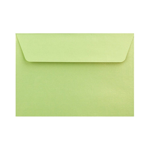 C6 Pearlescent Lime Green 120gsm Peel & Seal Envelopes [Qty 250] 114 x 162mm