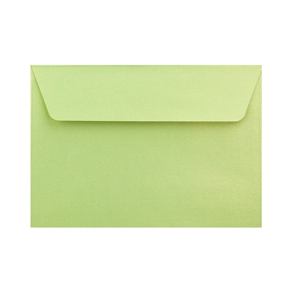 C6 Pearlescent Lime Green 120gsm Peel & Seal Envelopes [Qty 250] 114 x 162mm (2131255951449)