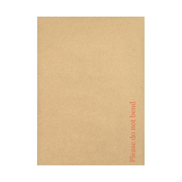A6 SIZE PLEASE DO NOT BEND CHEAP HARD CARD BOARD BACKED MANILLA ENVELOPES BROWN