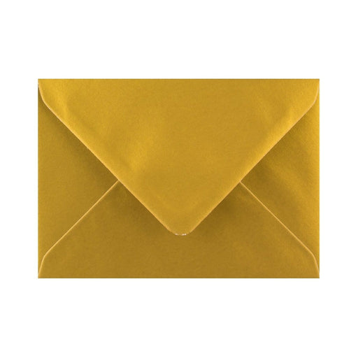 C6 Metallic Gold Gummed Diamond Flap Greeting Envelopes [Qty 1,000] 114 x 162mm
