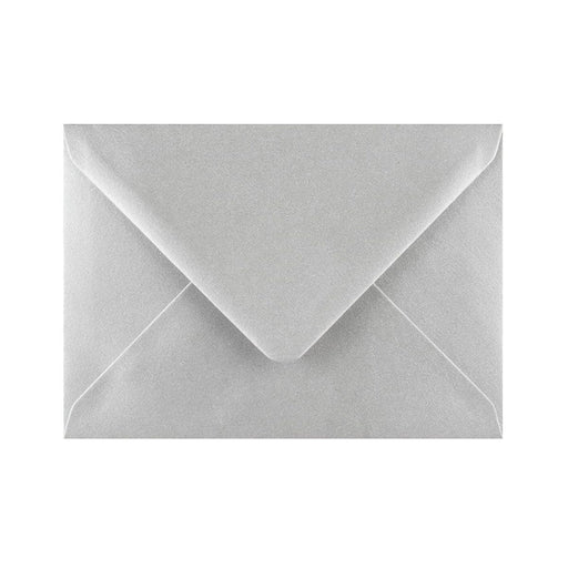 C6 Metallic Silver Gummed Diamond Flap Greeting Envelopes [Qty 1,000] 114 x 162mm