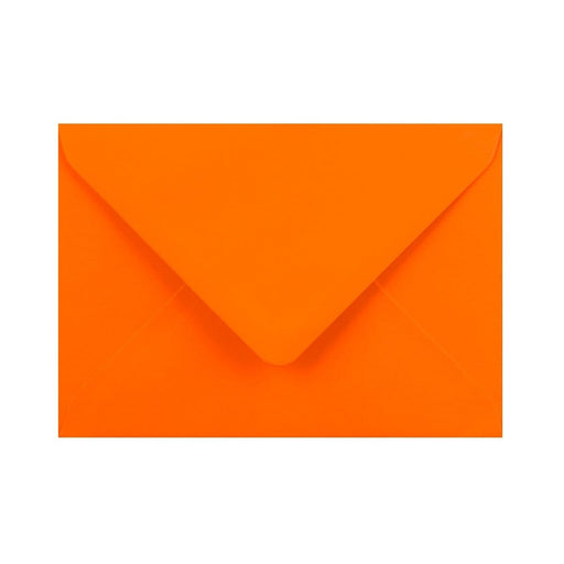 C6 Orange Gummed Diamond Flap Greeting Envelopes [Qty 1,000] 114 x 162mm