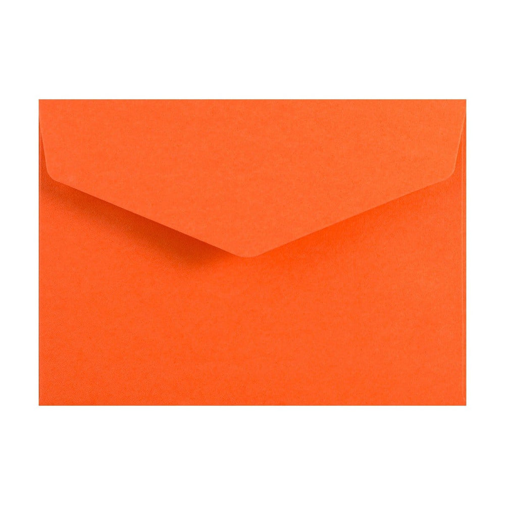C6 Orange V Flap Peel & Seal Envelopes [Qty 250] 114 x 162mm (2131377127513)