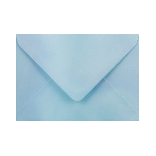 C6 Pearlescent Blue Gummed Diamond Flap Greeting Envelopes [Qty 1,000] 114 x 162mm