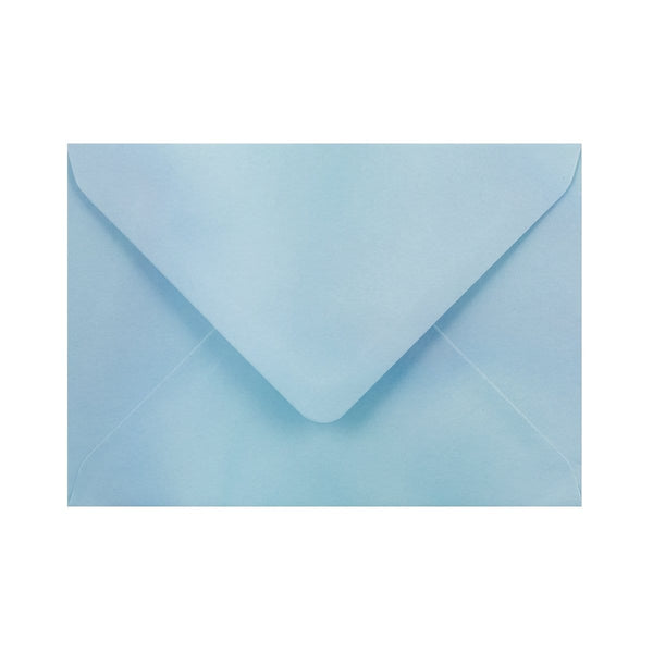 C6 Pearlescent Blue Gummed Diamond Flap Greeting Envelopes [Qty 1,000] 114 x 162mm (2131124519001)