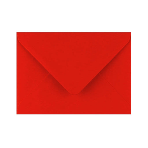 C6 Poppy Red Gummed Diamond Flap Greeting Envelopes [Qty 1,000] 114 x 162mm