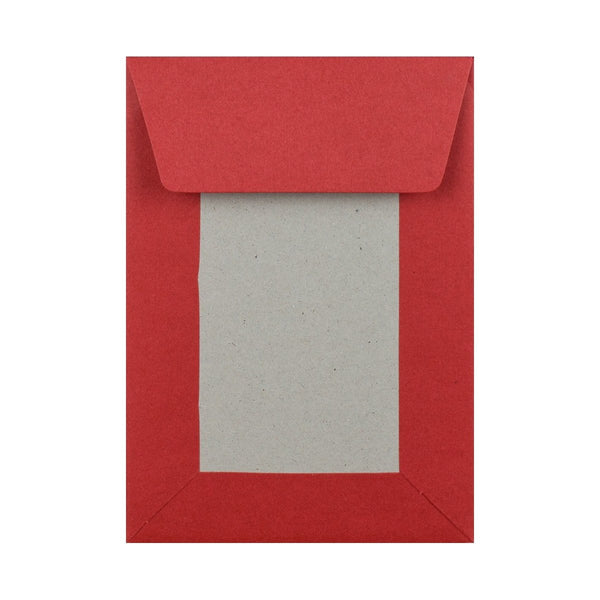 C6 Red Board Back Envelopes [Qty 250] 114 x 162mm