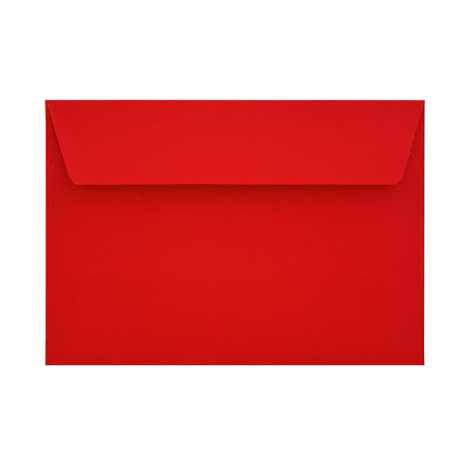 C6 Pillar Box Red 120gsm Peel & Seal Envelopes [Qty 250] 114 x 162mm