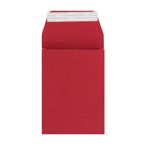 C6 Red Gusset 180gsm Envelopes [Qty 200] 162 x 114 x 25mm