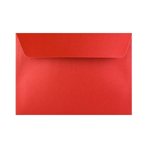 C6 Pearlescent Red 120gsm Peel & Seal Envelopes [Qty 250] 114 x 162mm