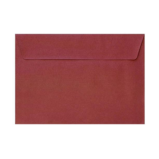 C6 Red Textured 120gsm Peel & Seal Envelopes [Qty 250] 114 x 162mm