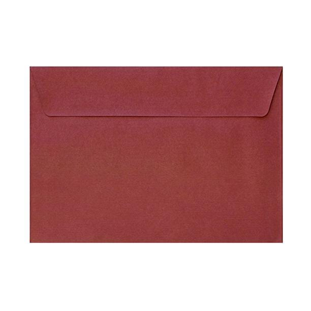 C6 Red Textured 120gsm Peel & Seal Envelopes [Qty 250] 114 x 162mm (2131080708185)