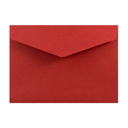 C6 Deep Red V Flap Peel & Seal Envelopes [Qty 250] 114 x 162mm