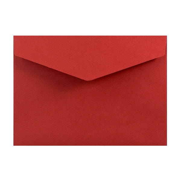 C6 Deep Red V Flap Peel & Seal Envelopes [Qty 250] 114 x 162mm (2131375849561)