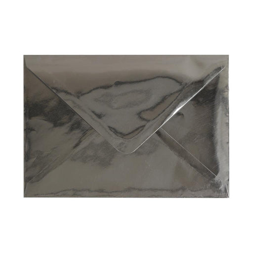 C6 Metallic Silver Mirror Finish 120gsm Gummed Envelopes [Qty 100] 114 x 162mm