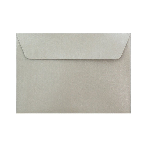 C6 Pearlescent Silver 120gsm Peel & Seal Envelopes [Qty 250] 114 x 162mm
