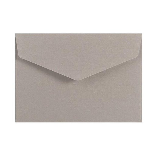 C6 Metallic Silver 120gsm V Flap Envelopes [Qty 250] 114mm x 162mm