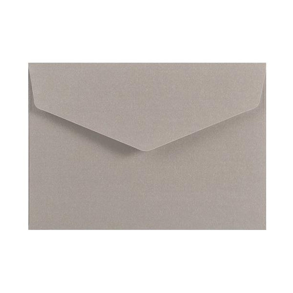 C6 Metallic Silver 120gsm V Flap Envelopes [Qty 250] 114mm x 162mm (2131337281625)