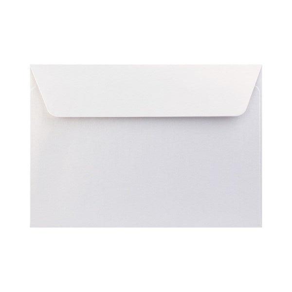 C6 Pearlescent Ice White 120gsm Peel & Seal Envelopes [Qty 250] 114 x 162mm (2131255754841)