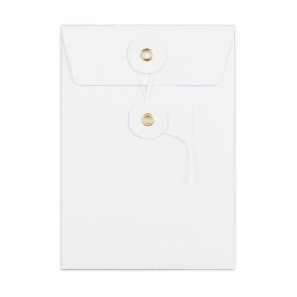 C6 White String & Washer Envelopes [Qty 100] 162x114mm (2131346653273)