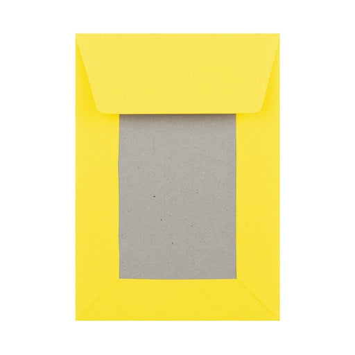 C6 Yellow Board Back Envelopes [Qty 250] 114 x 162mm