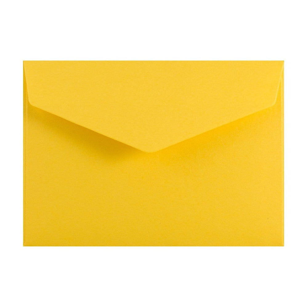 C6 Yellow V Flap Peel & Seal Envelopes [Qty 250] 114 x 162mm
