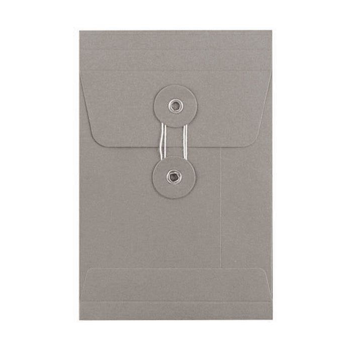C6 Grey Gusset String & Washer Envelopes [Qty 100] 162 x 114 x 25mm