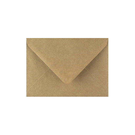 C7 Brown Ribbed Gummed Diamond Flap Greeting Envelopes [Qty 1,000] 82 x 113mm