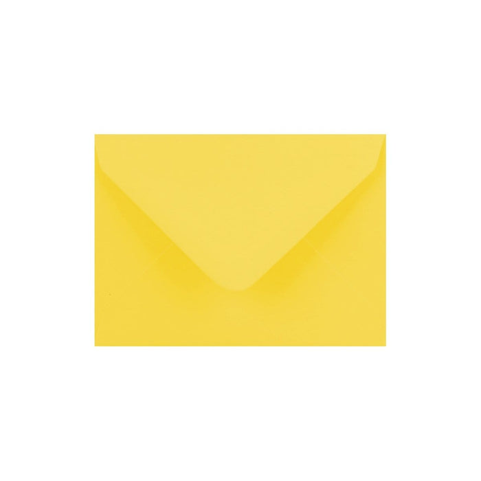 C7 Canary Yellow Gummed Diamond Flap Greeting Envelopes [Qty 1,000] 82 x 113mm (2131133235289)