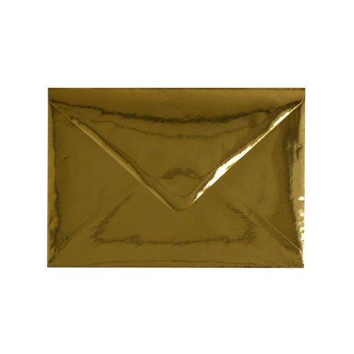 C7 Metallic Gold Mirror Finish 120gsm Gummed Envelopes [Qty 100] 82 x 113mm