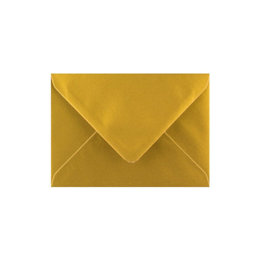 C7 Metallic Gold Gummed Diamond Flap Greeting Envelopes [Qty 1,000] 82 x 113mm