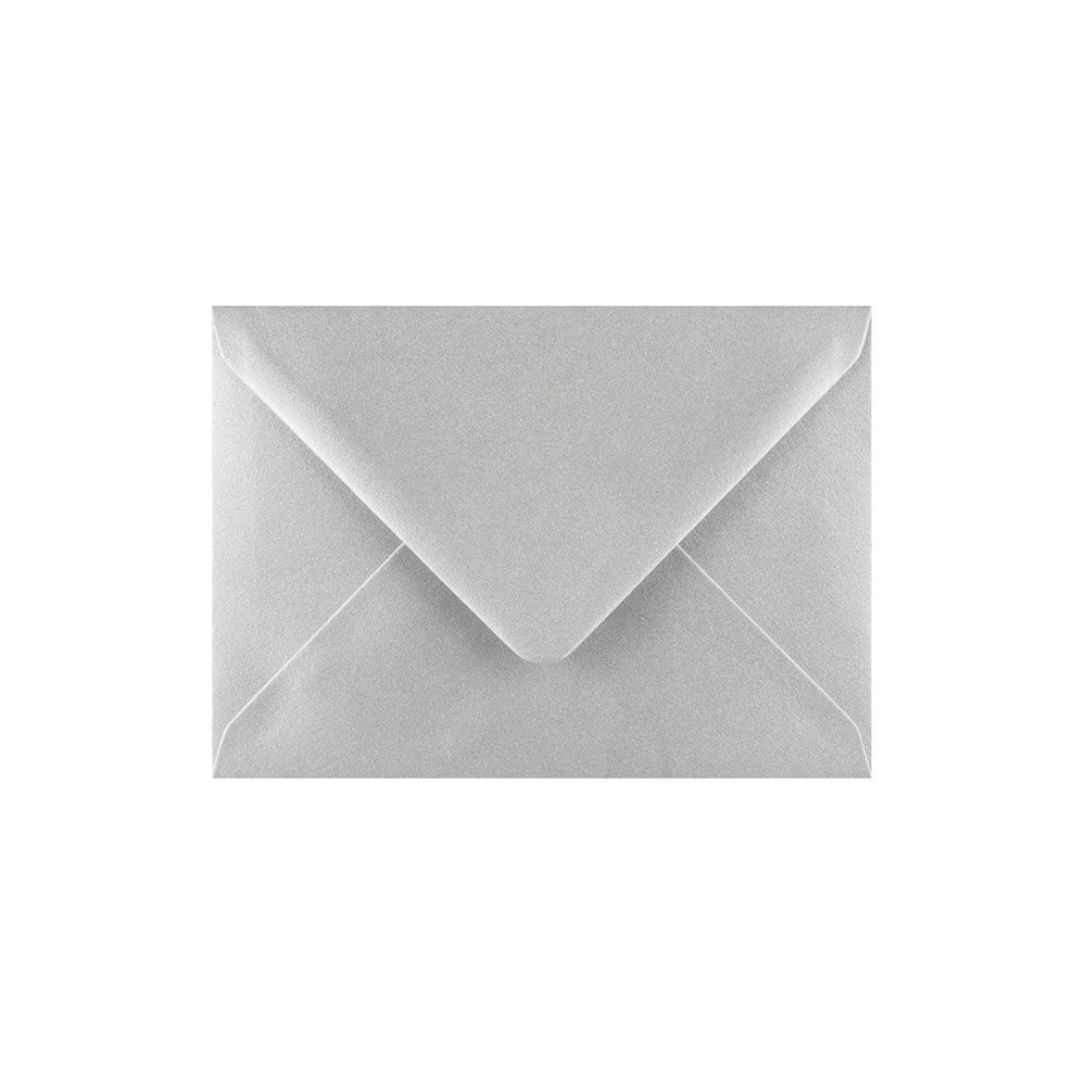 C7 Metallic Silver Gummed Diamond Flap Greeting Envelopes [Qty 1,000] 82 x 113mm