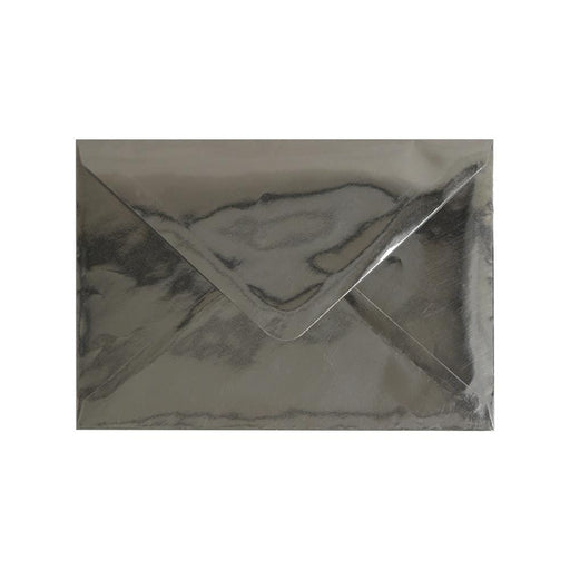 C7 Metallic Silver Mirror Finish 120gsm Gummed Envelopes [Qty 100] 82 x 113mm